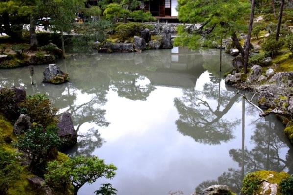 Japon - 02 avril au 16 avril 2017 - Kyoto - le temple Ginkaku-ji ou Pavillon d'argent10 - l'étang
