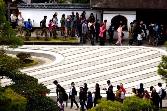 Japon - 02 avril au 16 avril 2017 - Kyoto - le temple Ginkaku-ji ou Pavillon d'argent23 - jardin de sable