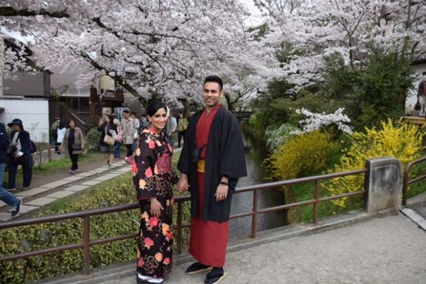 kimonos et sakura